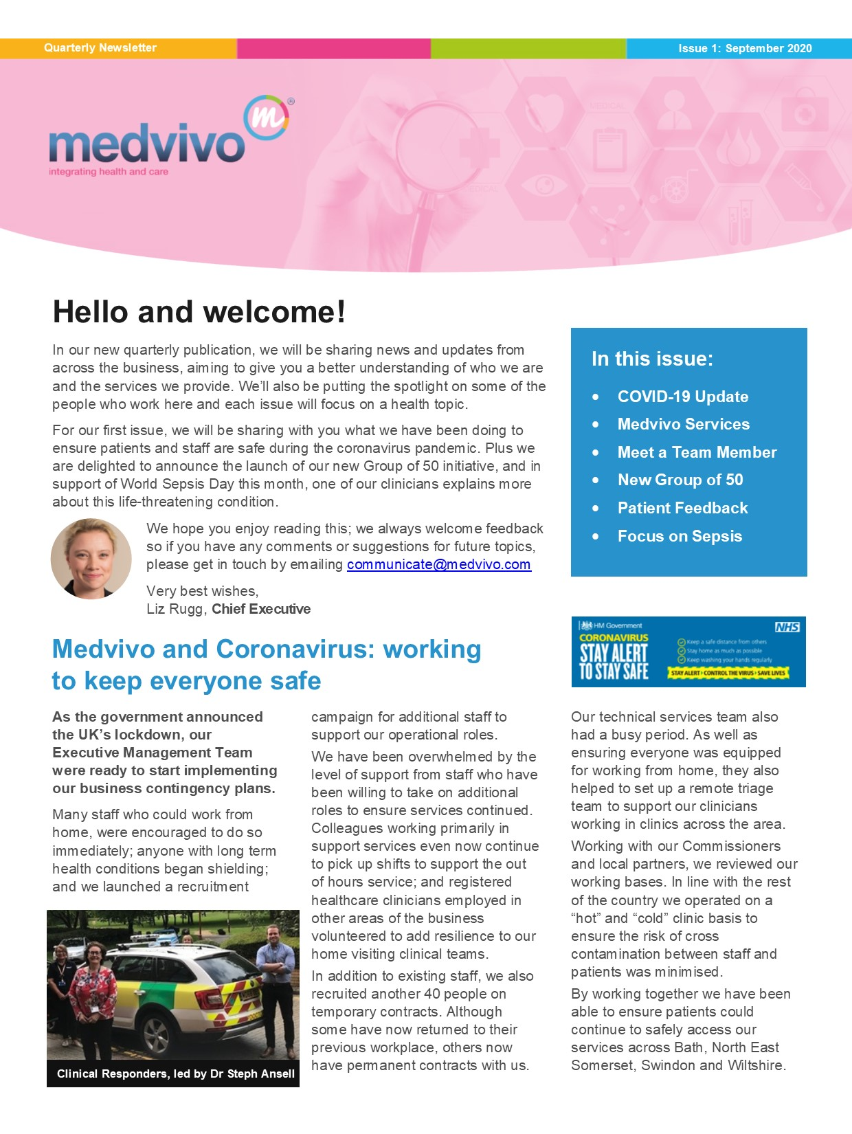 Cover image of newsletter